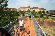 Großansicht Eisenbrücke mit Schlossbastei