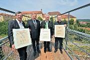 Großansicht DI Karl Amtmann, Bürgermeister Werner Gutzwar, LTP Franz Majcen, Mag. Dr. Erik Hilzensauer (BDA)